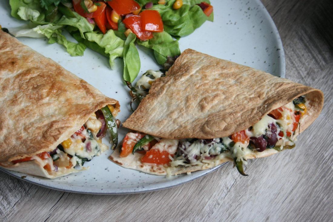 vegetarische quesadillas door gezond met lotte