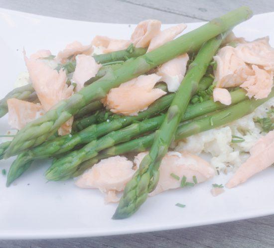 Risotto zalm groene asperges