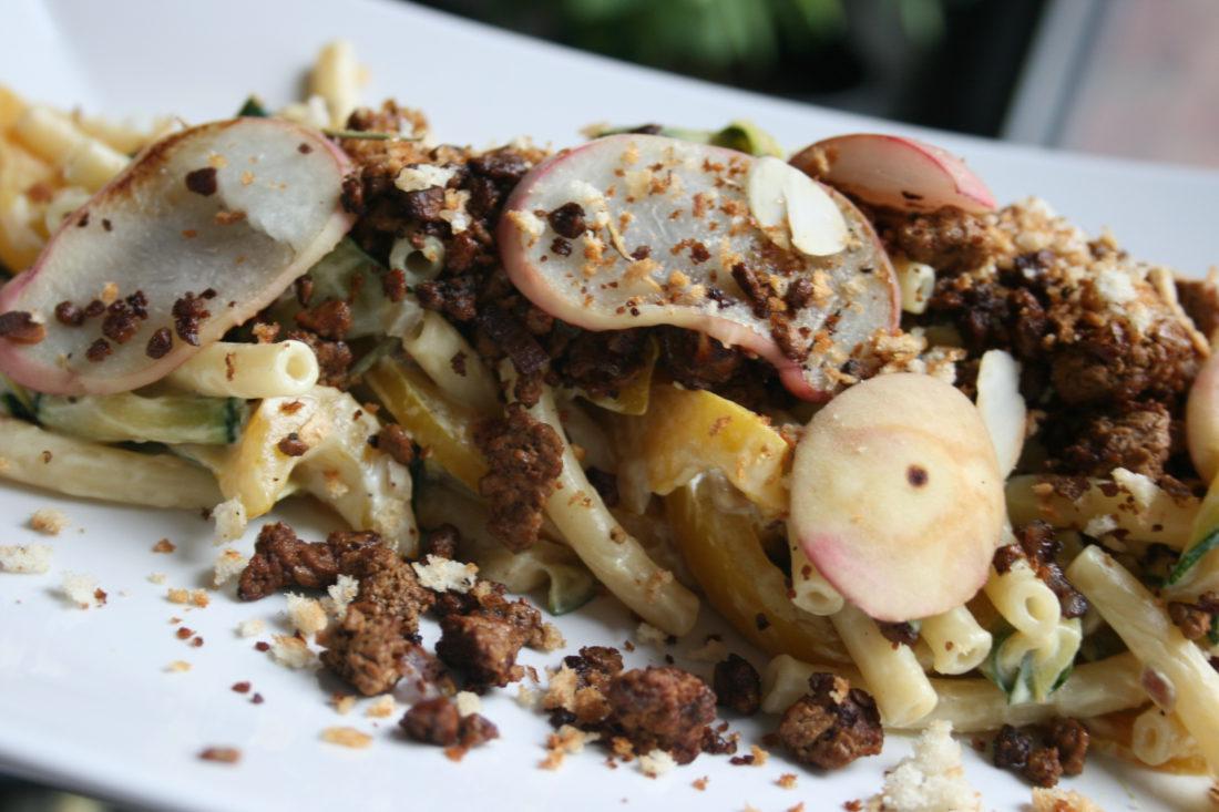 krokante pasta met quorn