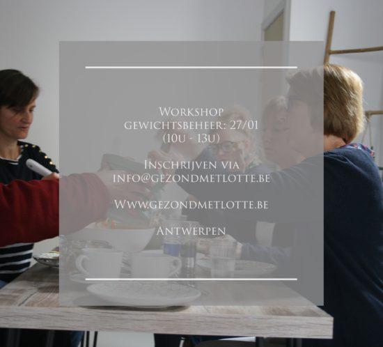 Workshop gewichstbeheer
