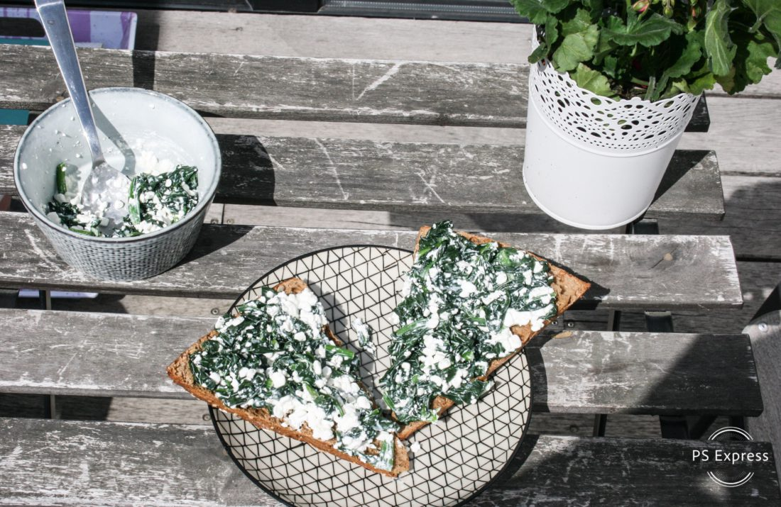 cottage cheese spinazie spread