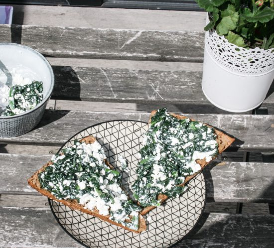 cottage cheese spinazie spread