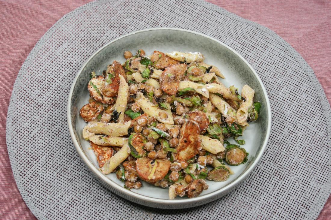 Pastinaak- spruiten pasta met ricotta